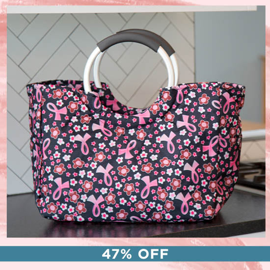 Pink Ribbon Insulated Shopping Bag | Breast Cancer Awareness - 47% OFF