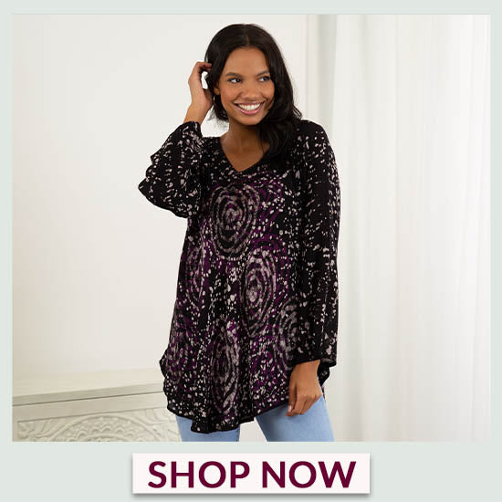 Mystic Rose Long Sleeve Tunic - Shop Now!