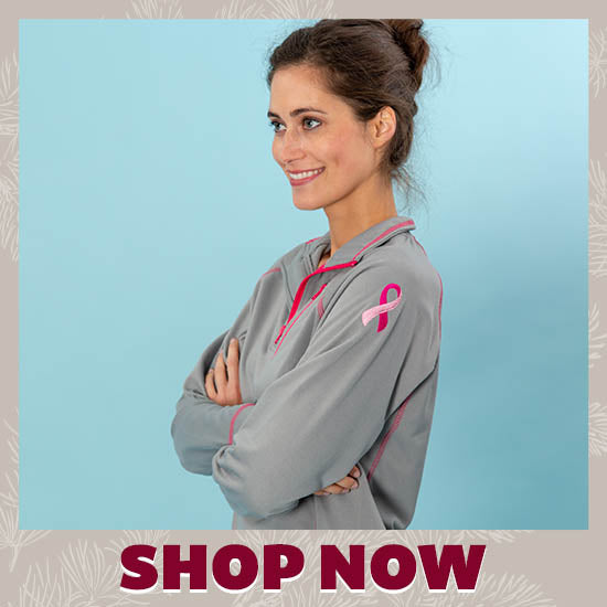 Pink Ribbon Quarter Zip Pullover - Shop Now