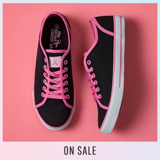 Pink Ribbon Breast Cancer Sneakers - On Sale
