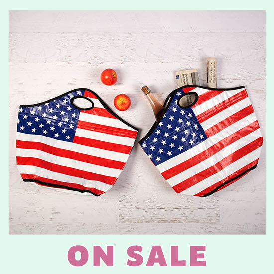 American Flag Insulated Shopping Totes Set-of-2 - On Sale