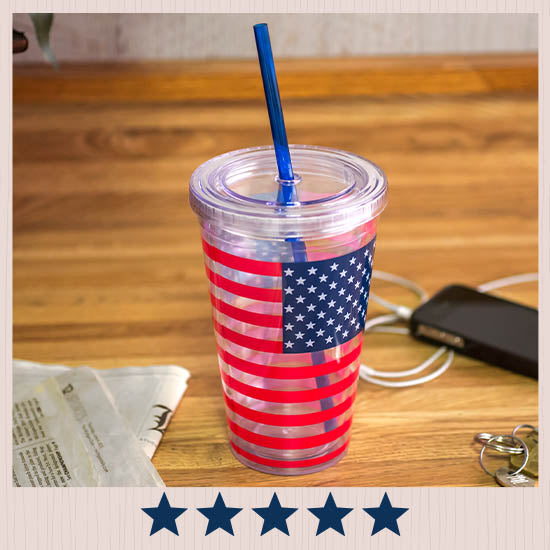 American Flag Insulated Travel Cup - ★★★★★