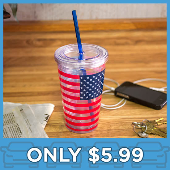 American Flag Insulated Travel Cup