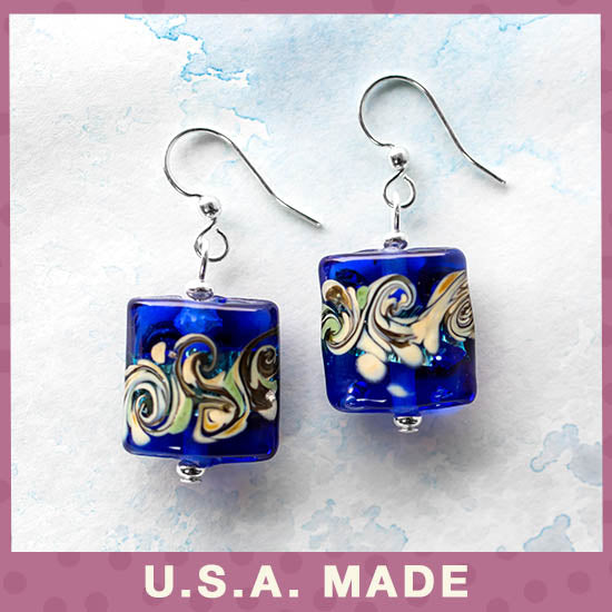 Colors of Inspiration Glass Earrings - U.S.A. Made