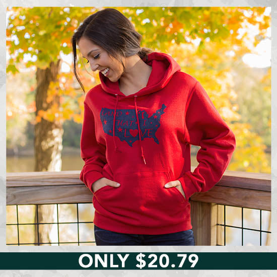 Land That I Love Hooded Sweatshirt - Only $20.76
