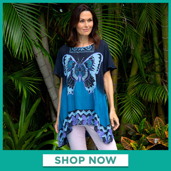 Butterfly Kisses Oversize Top - Shop Now
