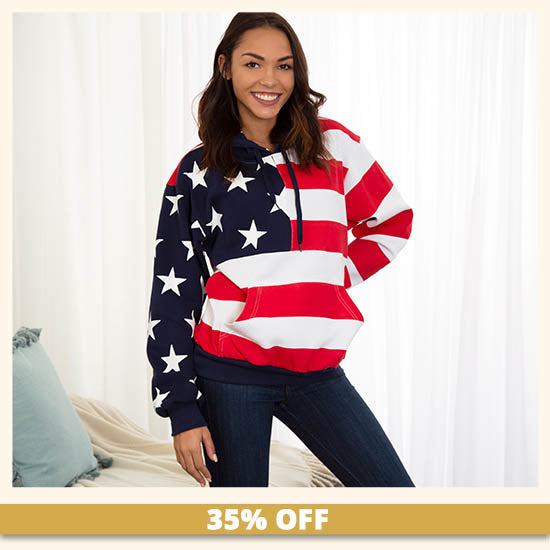 American Flag Sweatshirt - 35% OFF