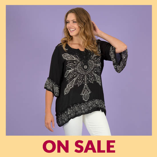 Blooming Sun Ruffle Tunic - On Sale