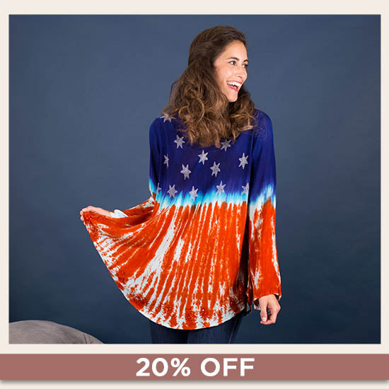Stars & Stripes Long Sleeve Tunic - 20% OFF
