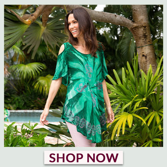 Green Envy Cold Shoulder Tunic - Shop Now!