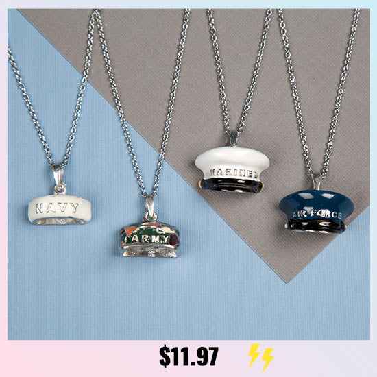 Military Hat Necklace - $11.97