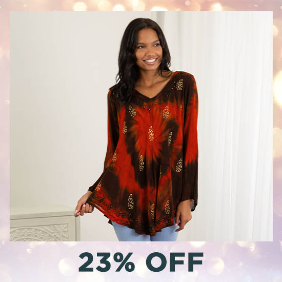 Ring of Fire Long Sleeve Tunic - 23% OFF