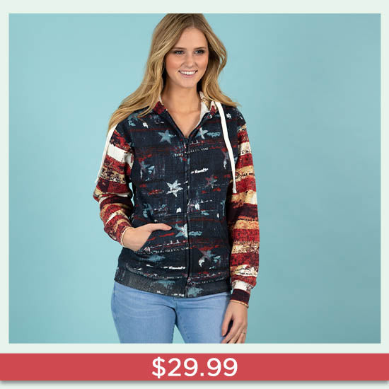 Old Glory Hooded Sweatshirt - $29.99
