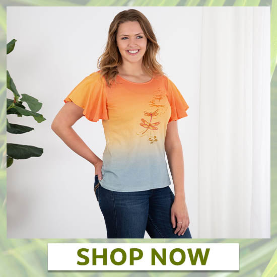Sunset Flight Ombre Flutter Tee