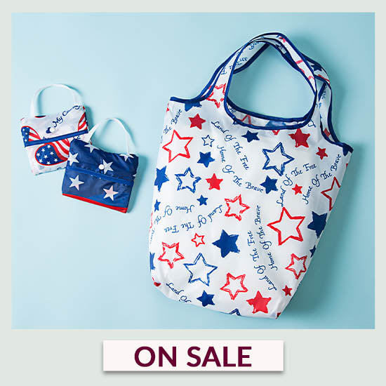 Patriotic Shopping Bags - Set of 3 - On Sale