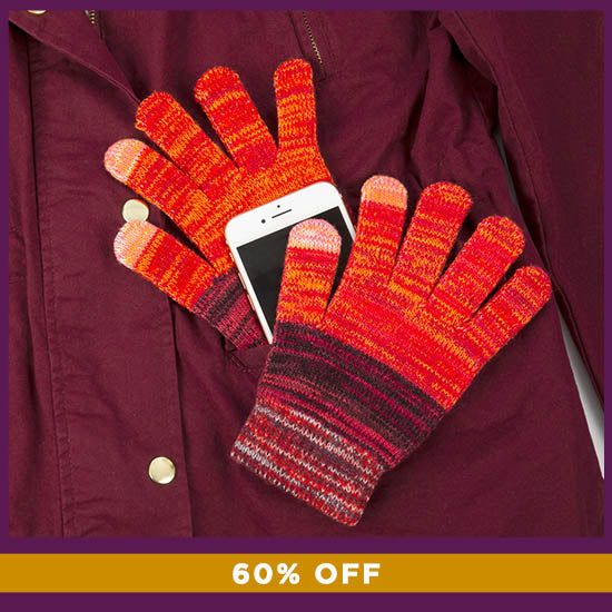 Rainbow Delight Touch Screen Gloves - 60% OFF