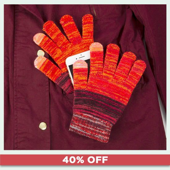 Rainbow Delight Touch Screen Gloves - 40% OFF