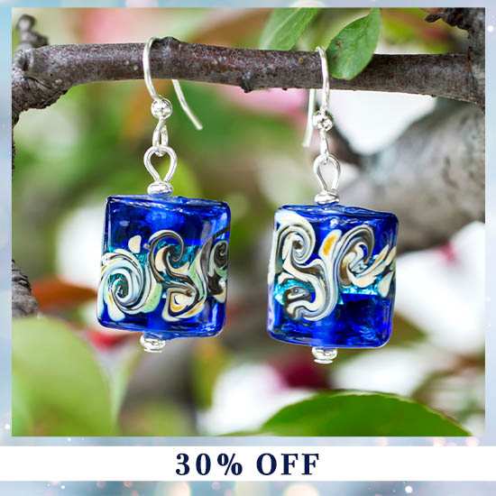 Colors of Inspiration Glass Earrings - 30% OFF