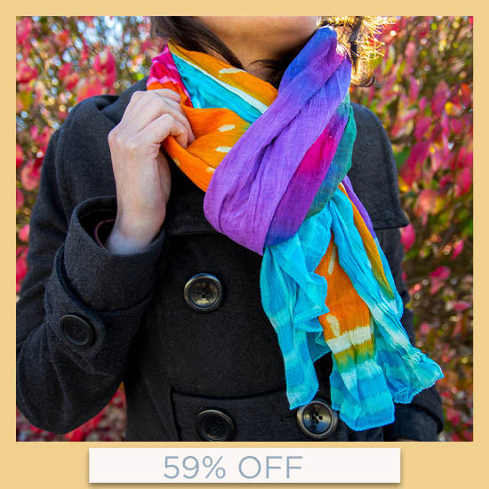 Rainbow Connection Scarf - 59% OFF