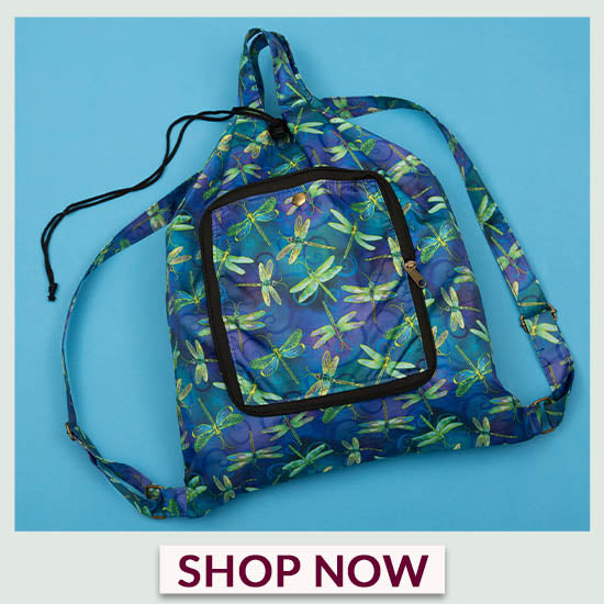 Swirling Dragonflies Packable Backpack - Shop Now!