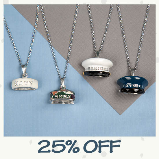 Military Hat Necklace - 25% OFF