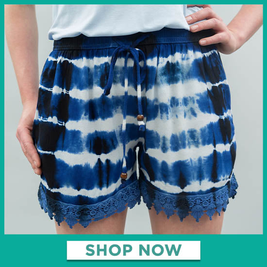 Ride the Wave Lace Trim Shorts - Shop Now