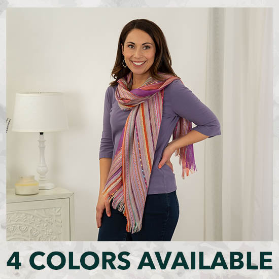Color Celebration Woven Scarf - 4 Colors Available