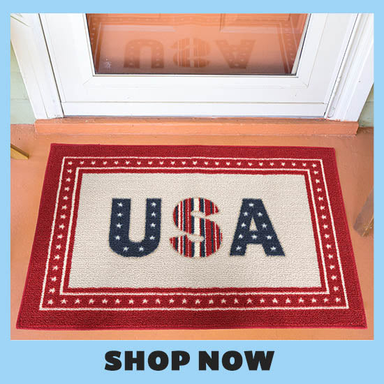 Patriotic U.S.A. Door Mat