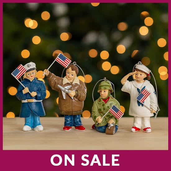 Little Heroes Military Branch Ornament - On Sale