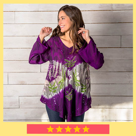 Twilight Dragonfly Long Sleeve Tunic - ★★★★★