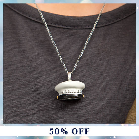 Military Hat Necklace - 50% OFF