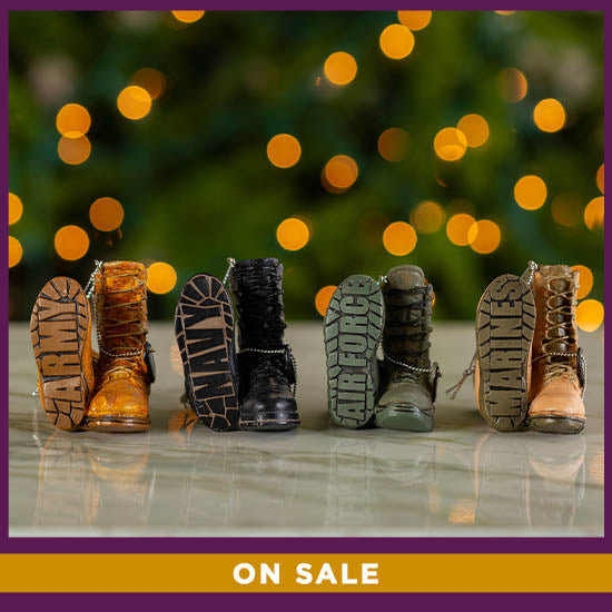 Military Boots Ornament - On Sale