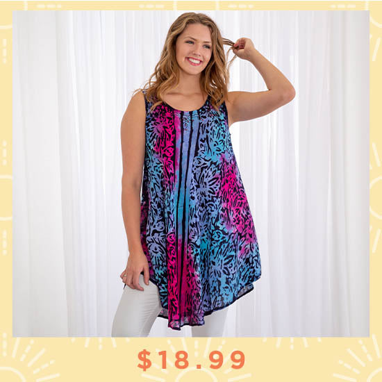 Dream in Color Sleeveless Tunic - $18.99