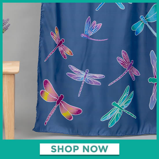 Fluttering Beauty Dragonfly Shower Curtain - Shop Now