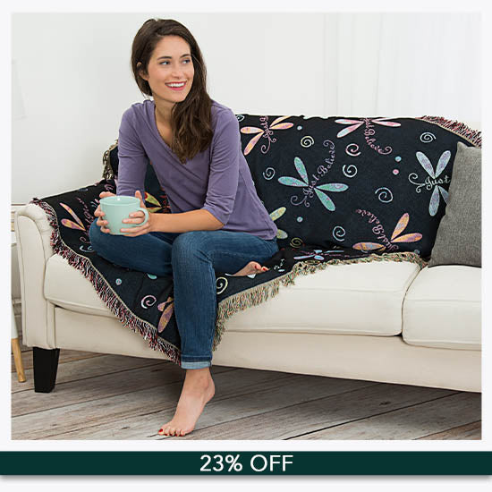 Dragonfly Tapestry Throw Blanket - 23% OFF