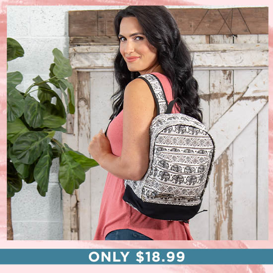 Elephant Parade Backpack - Only $18.99