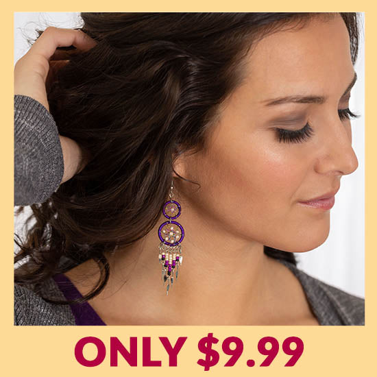 Double Dreamcatcher Dazzling Earrings - Only $9.99