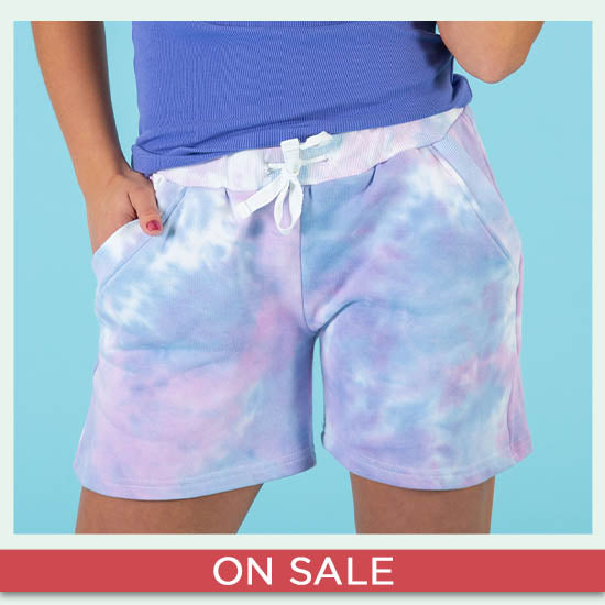 Pastel Tie-Dye Casual Shorts - On Sale