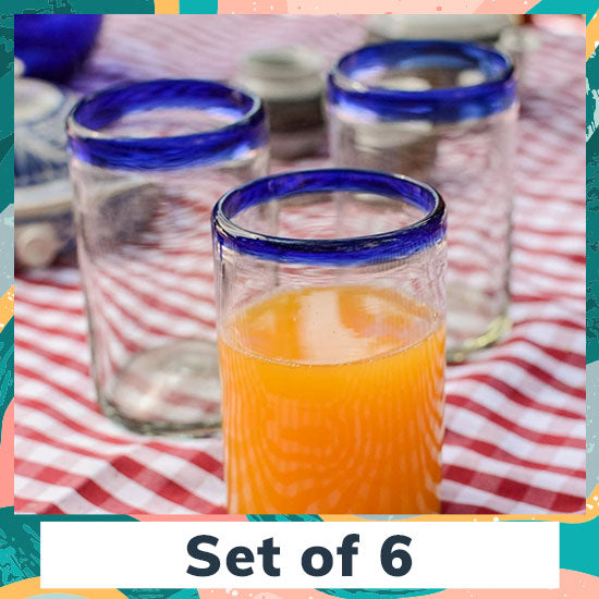Artisan Crafted Juice Glasses - Set of 6