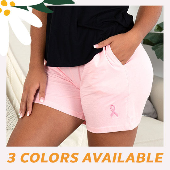 Pink Ribbon Women's Casual Shorts - 3 Colors Available