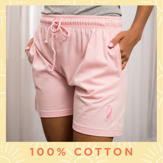 Pink Ribbon Women's Casual Shorts - 100% Cotton