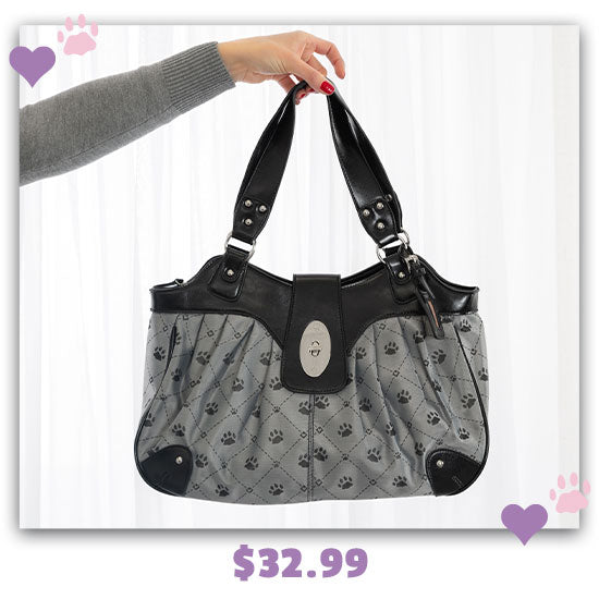 Paws & Hearts Pleated Hobo Bag - $32.99