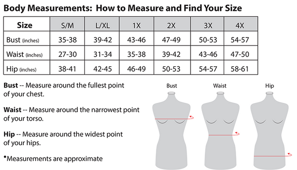 Women's Tops Sizing Reference Chart