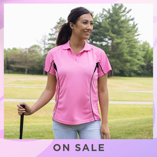 Pink Ribbon Quick-Dry Polo Shirt - On Sale