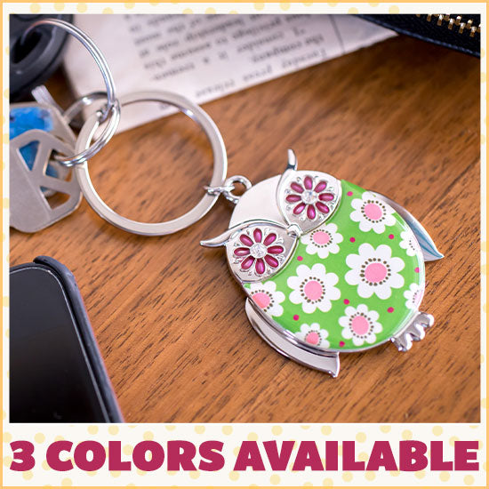 Wise in Love Owl Keychain - 3 Colors Available
