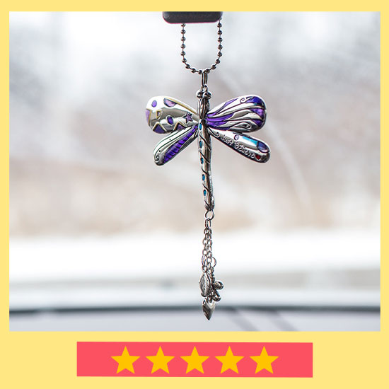 Just Believe Dragonfly Car Charm - ★★★★★