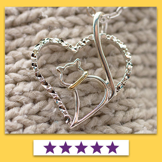 Love Cat Sterling Necklace - ★★★★★