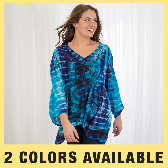 Tie-Dye Spirit Long Sleeve Top - 2 Colors Available