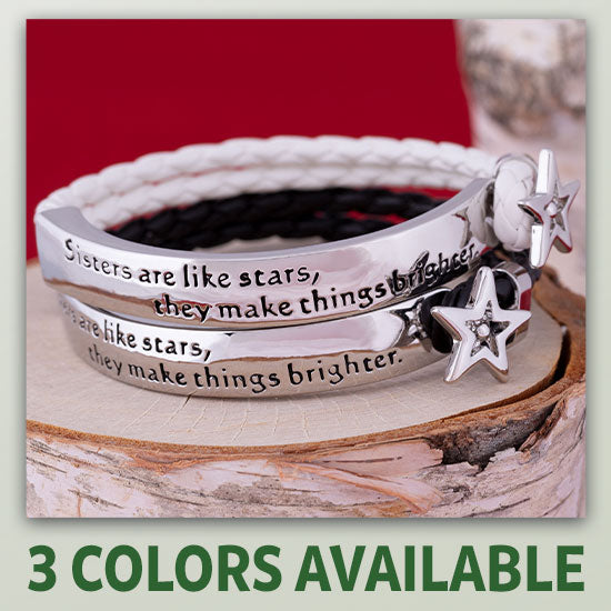 Sisters Are Like Stars Braided Bracelet - 3 Colors Available