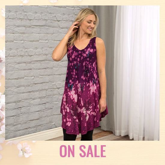 Cosmic Butterfly Sleeveless Tunic - On Sale